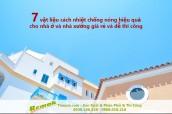 7 vật liệu cách nhiệt chống nóng hiệu quả cho nhà ở, nhà xưởng giá rẻ và dễ thi công