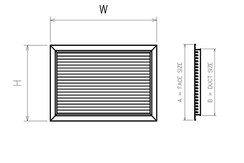 Cửa thông gió nan bầu dục 1 lớp HSAG 0