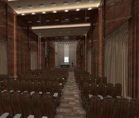 3D Hội Trường Thanh Hóa Sử Dụng Gỗ Tiêu Âm Remak